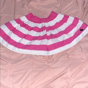 Cute little pink and white striped skirt